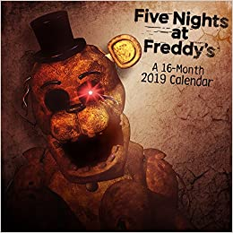 2019 five nights at freddys mini calendar