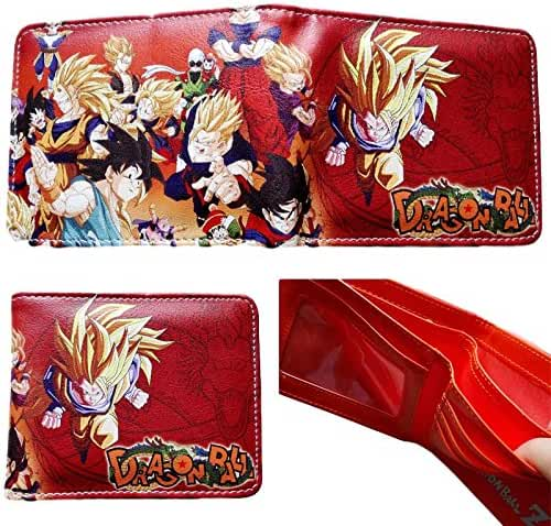 Dragon Ball Z Anime Superhero Collection Character Leather Look Bi-Fold Wallet
