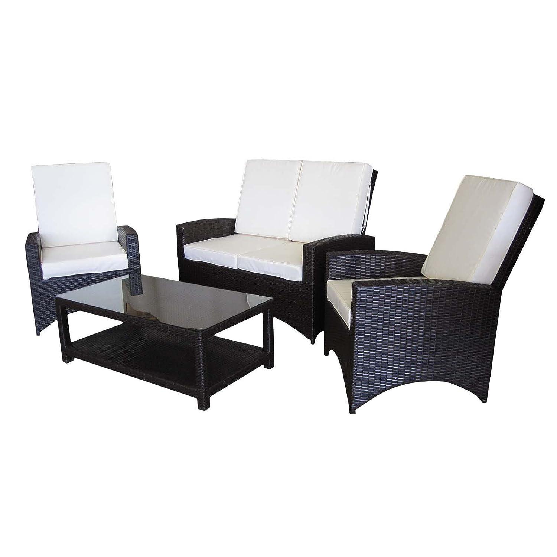 Rattan Gartenmöbel Loungegruppe Gartenset Sitzgruppe mit Tisch PU ...