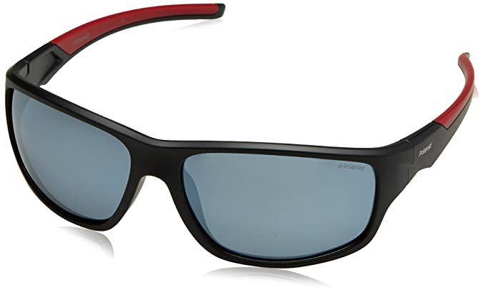d84402c0aed9 Image Unavailable. Image not available for. Color  Polaroid Sunglasses Men s  Pld7010s Polarized Rectangular Sunglasses BLK REDGD 64 mm