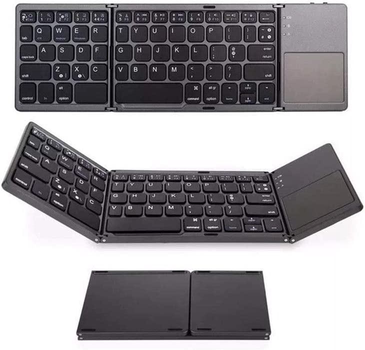Folding Keyboard Color : Black Household Support Three Systems Internet Cafe Notebook Office Wireless Bluetooth Ultra-Thin Portable Keyboard