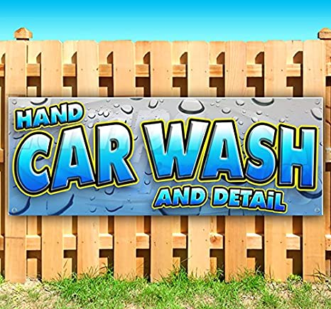 Amazon Com Hand Car Wash And Detail 13 Oz Heavy Duty Vinyl Banner