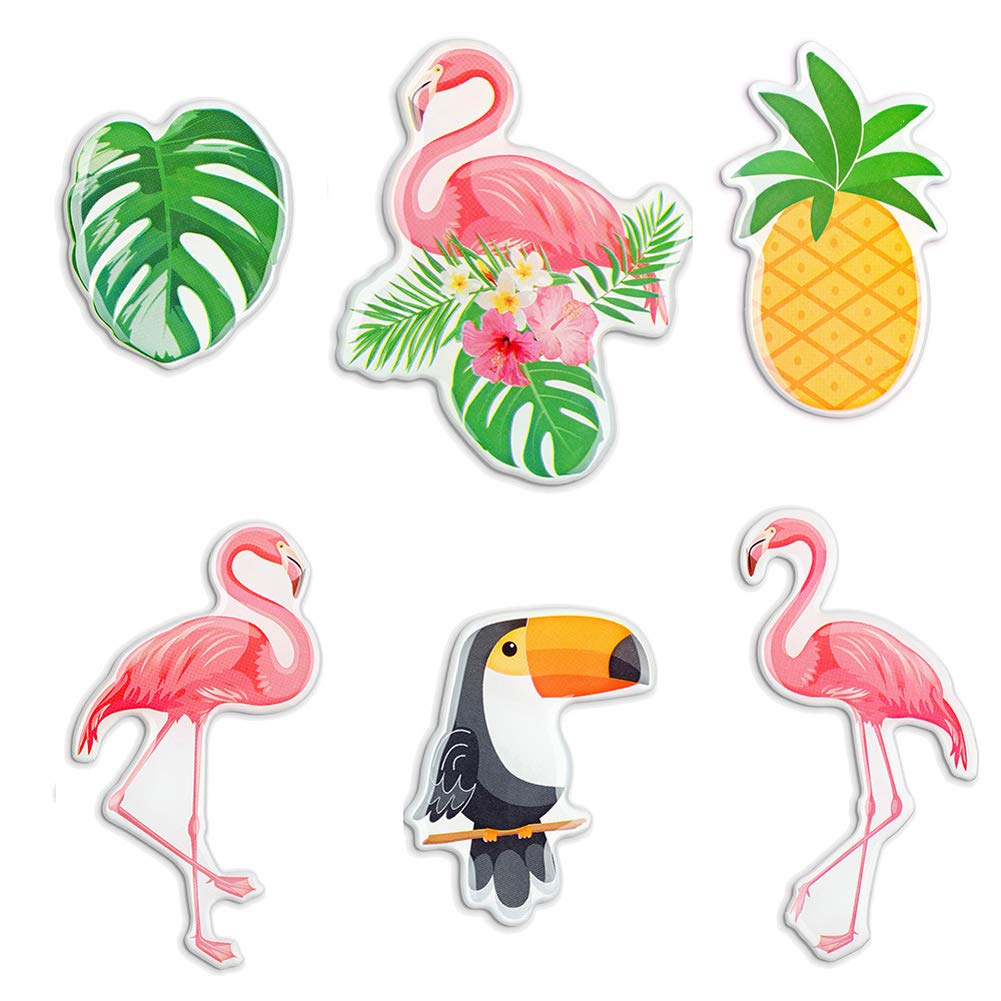 MORCART Premium Fridge Magnets Flamingo Perfect Decorative Magnet Set 6Pcs Suitable for Refrigerator, Calendar, Whiteboard Funny Gifts (Flamingo)