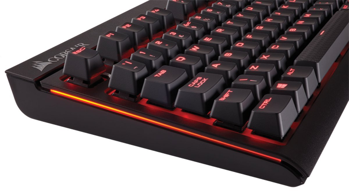 Corsair Strafe Mechanical Gaming Keyboard Cherry Mx Brown Switches K95 Rgb Red Backlighting Anti Ghosting Usb Pass Through Uk Layout Ch 9000092 Black