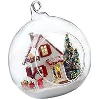 Flameer 1:24 Scale Dollhouse DIY Creative Warm Room Valentine's Gift -Christmas Kiss