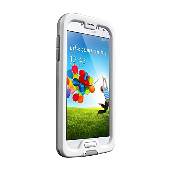 timeless design 8442f a7aac LifeProof FRĒ Samsung Galaxy S4 Waterproof Case - Retail Packaging -  WHITE/GREY (Discontinued by Manufacturer)