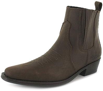 Wrangler - Botas con Empeine de Cuero Estilo Vaquero con Terminación en Punta para Hombre - Color Café Oscuro - Tallas 8-13 US: Amazon.es: Zapatos y ...