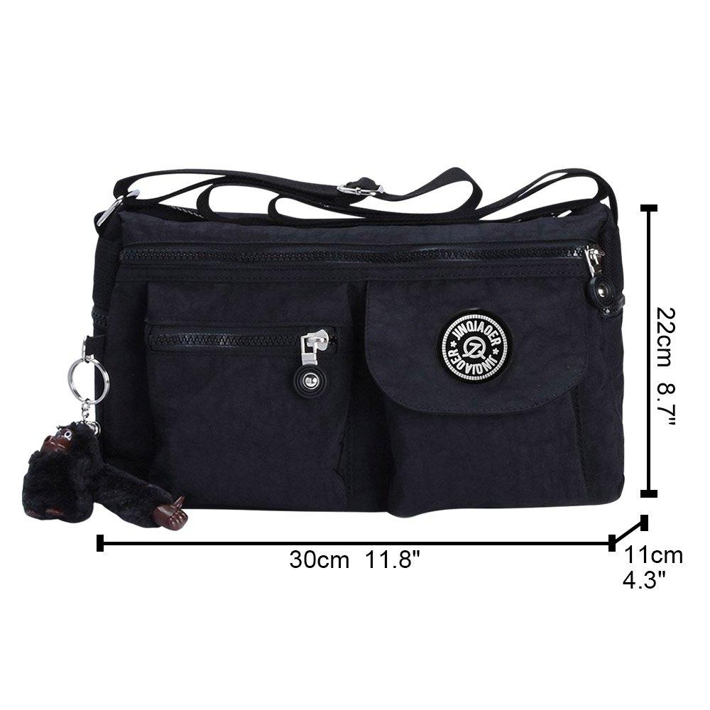 1b5e7b02b6 Wocharm Vintage Women Tote Messenger Cross Body Handbag Ladies Bag Shoulder  Bag Purse (Black)  Amazon.co.uk  Shoes   Bags