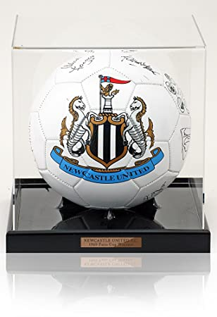 British Sports Museum Pelota de fútbol firmada a Mano con el Texto ...