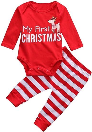 Fossen Disfraz Navidad Bebe Niña Niño My First Christmas Tops + ...