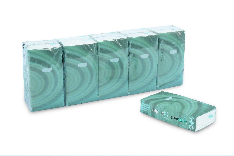 Semy Top pa/ñuelos de 4 capas Paquete de 10 10 x 10 toallitas