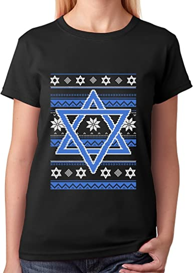 Hannukah Nights Ugly Holiday Sweater Star Of David T-Shirt Jewish Gift Idea