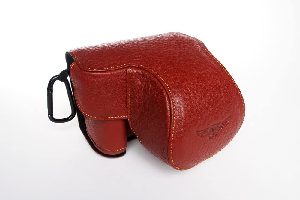 Handmade Genuine Real Leather Full Camera Case Bag Cover Canon G3X G3 X 24-600mm Lens Brown Color