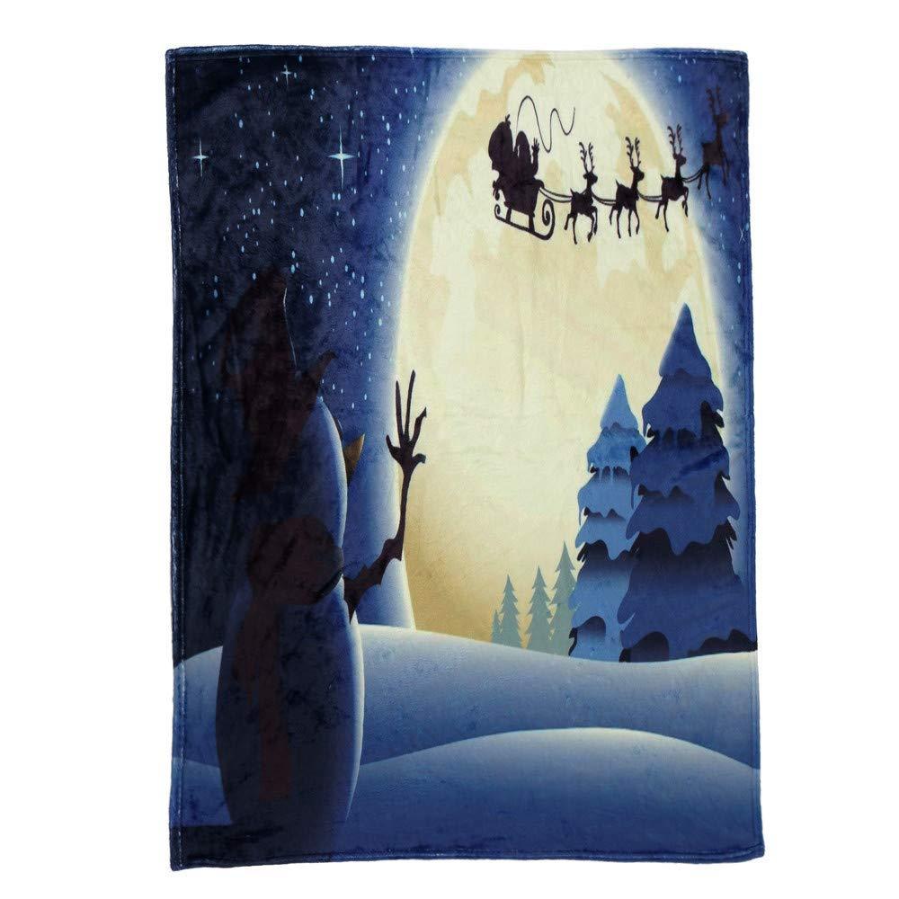XINSU Weihnachtsdecke Flanell Stoff Schlafsofa Decke 70x100cm 70x100cm 70x100cm   130x150cm   150x200cm, Thema Weihnachten Muster Decke, Weihnachts-Bett-Bedarf, Weihnachtsdekor (MultiFarbe F, S) B07NXQ4F75 Granulate 5cf2ed