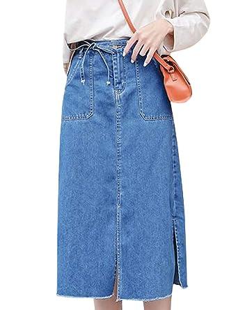 patch pocket knee length skirt