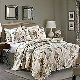 queen quilt birds - Aivedo Quilt Set Flying Birds Printing 100% Cotton 3 Pieces Bedding Set,Bedspread Set,Comforter Set-Queen Size