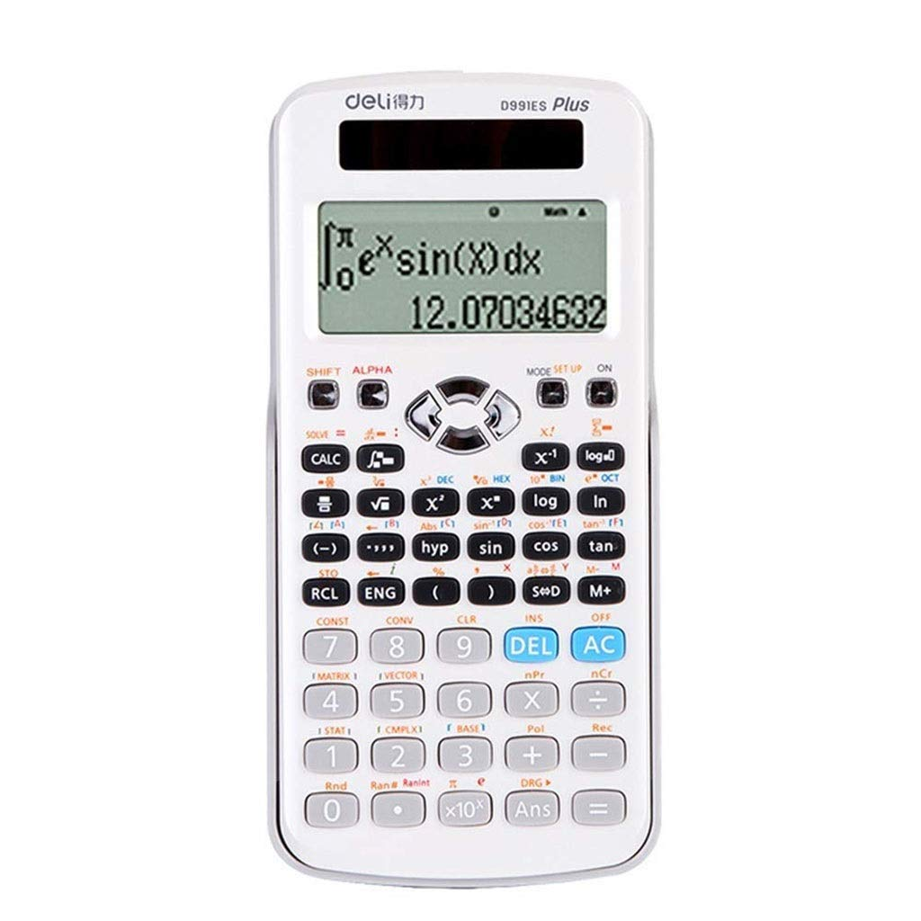 Calculator Advanced Science Function Calculator Student Office Financial Plating Button Commercial Standard Function Desktop Calculator Office Computing Vineyard (Color : White) by Vineyard