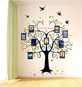VIOLETY Large Family Tree Wall Sticker Removable Love Tree Photo Frames Wall Decal for Bedroom Home Decor (Family Tree)