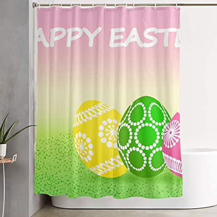 Amazon Com Bonsai Tree Happy Easter Eggs Funny Fabric Shower