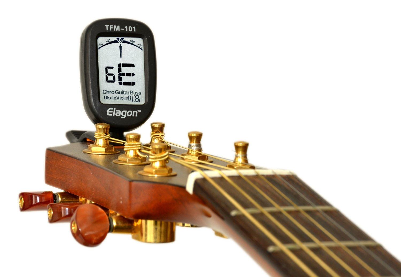 Clara Visualización, 9 modos de afinación para varios instrumentos: Guitarras eléctricas y acústicas, Afinación Cromática para todas las afinaciones no ...