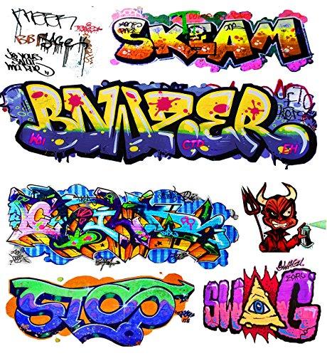 (O Scale Custom Graffiti Decals #11 - Weather Your Box Cars, Hoppers & Gondolas!)