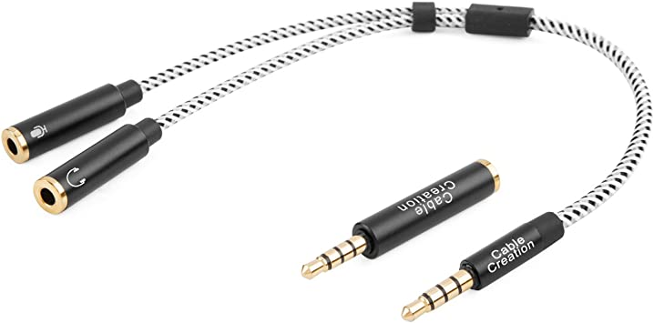 6 ft Audio Y Cable Audio Headphone Splitter 3.5mm Male to Dual 3.5mm Female