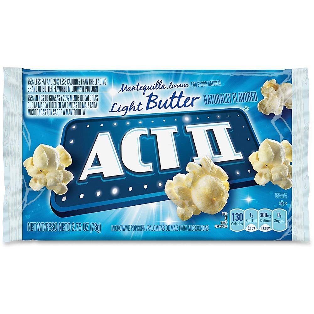 Amazon.com: ACT II Microwave Popcorn, Butter Flavored, 2.75 ...