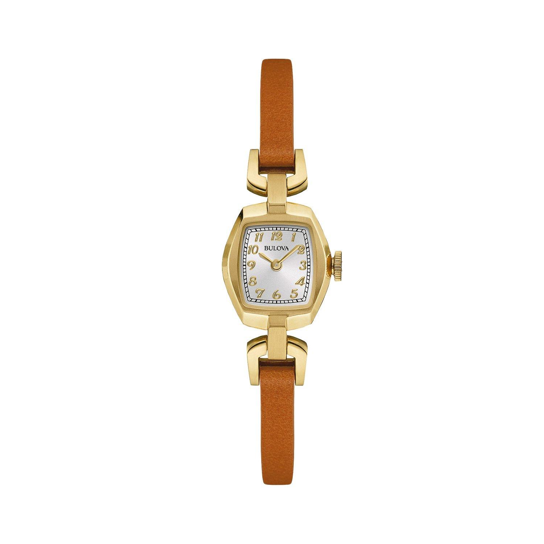 Bulova Heritage - Damen Designer-Armbanduhr - Armband aus Leder - Elegantes Design - RosÉgoldfarben - Goldfarben