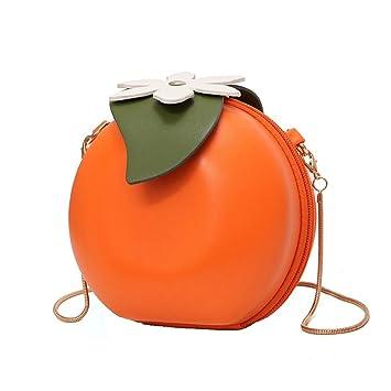 bc18a450010c Amazon.com  MILATA Fruit Orange Shaped Women Pu Leather Clutch Purse Cross  Body Bag  Miss of