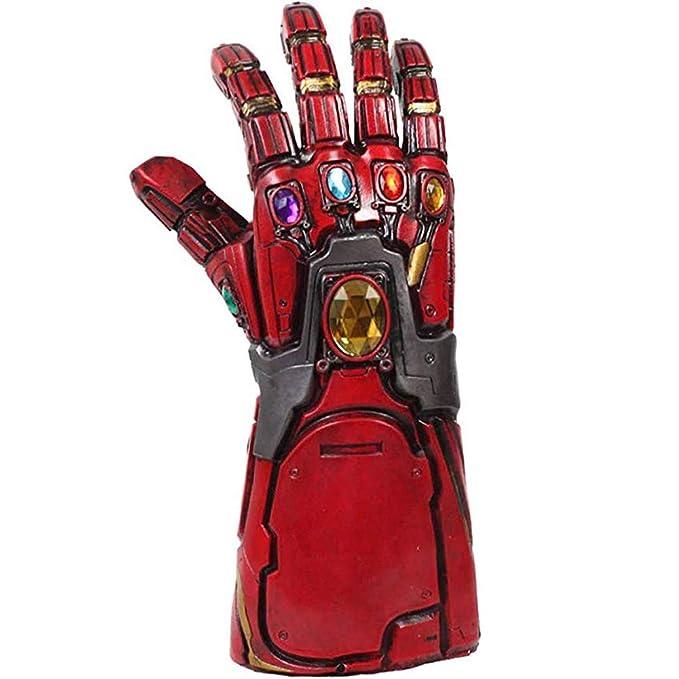 Nexthops Los Vengadores Guantes Hombre de Hierro Gauntlet Thanos Gloves Infinity Avanzado-Diseño para Disfraz Cosplay con Llavero-Gratis Costume ...