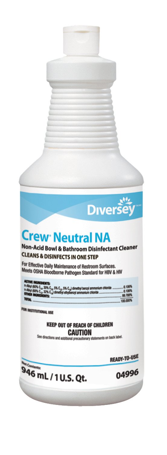 Diversey Crew Neutral Non-Acid Bowl and Bathroom Disinfectant