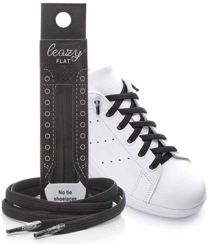 1 Pair Shoelace Elastic Kids Adults Quick Release Metal Cap Sneakers Lazy Strap