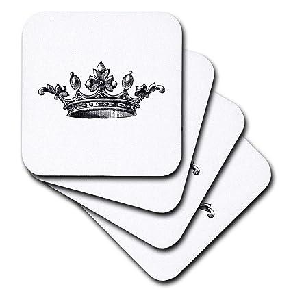 3drose Majestic Corona Blanco Y Negro Dibujo Royal Tiara Like Corona