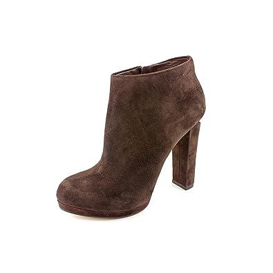 4e82489a976de Michael Kors Haven Bootie Womens Brown Suede Fashion Ankle Boots (10)