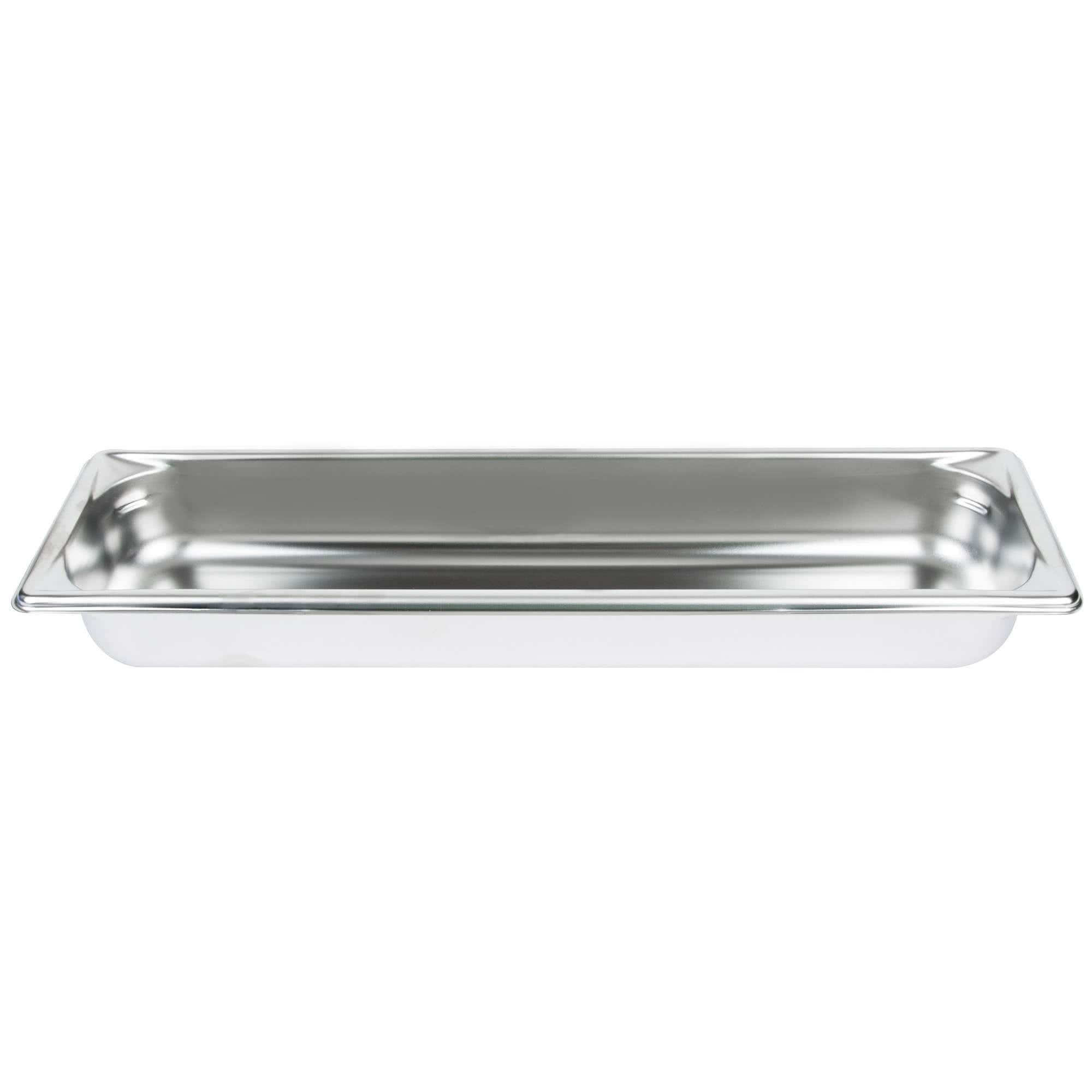 TableTop King 30522 Super Pan V 1/2 Size Long Anti-Jam Stainless Steel Steam Table/Hotel Pan - 2 1/2'' Deep by TableTop King