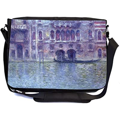 50%OFF Rikki Knight Claude Monet Art Palazzo de Mula Design Multifunctional Messenger Bag - School Bag - Laptop Bag - with padded insert for School or Work - Includes Matching Compact Mirror