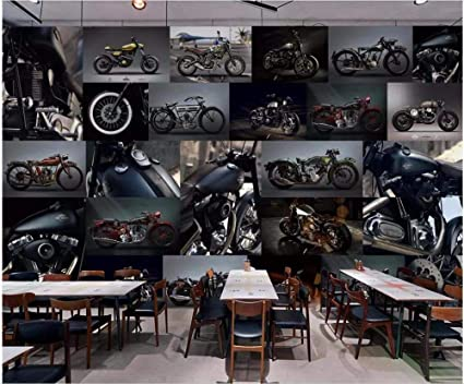 mural motocicleta café racer350x245