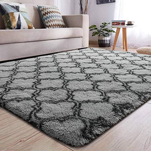 YJ.GWL Soft Indoor Large Modern Area Rugs Shaggy Patterned Fluffy Carpets Suitable for Living Room and Bedroom Nursery…