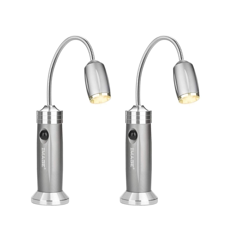 Elfeland LED Camping Lampe Grillleuchte Arbeitsleuchte Tischlampe Werkstattlampe Nachtlicht mit Magnetfu/ß und 360 /° Drehung Schwanenhals Batteriebetrieb Wasserdicht Au/ßenleuchte