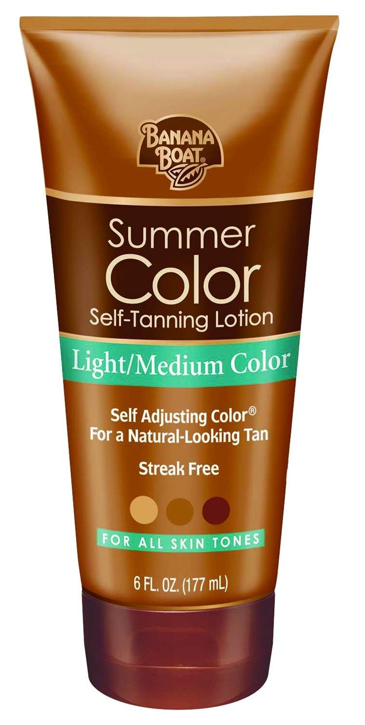 Banana Boat Self-Tanning Lotion, Light/Medium Summer Color for All Skin Tones - 6 Ounce Energizer Personal Care