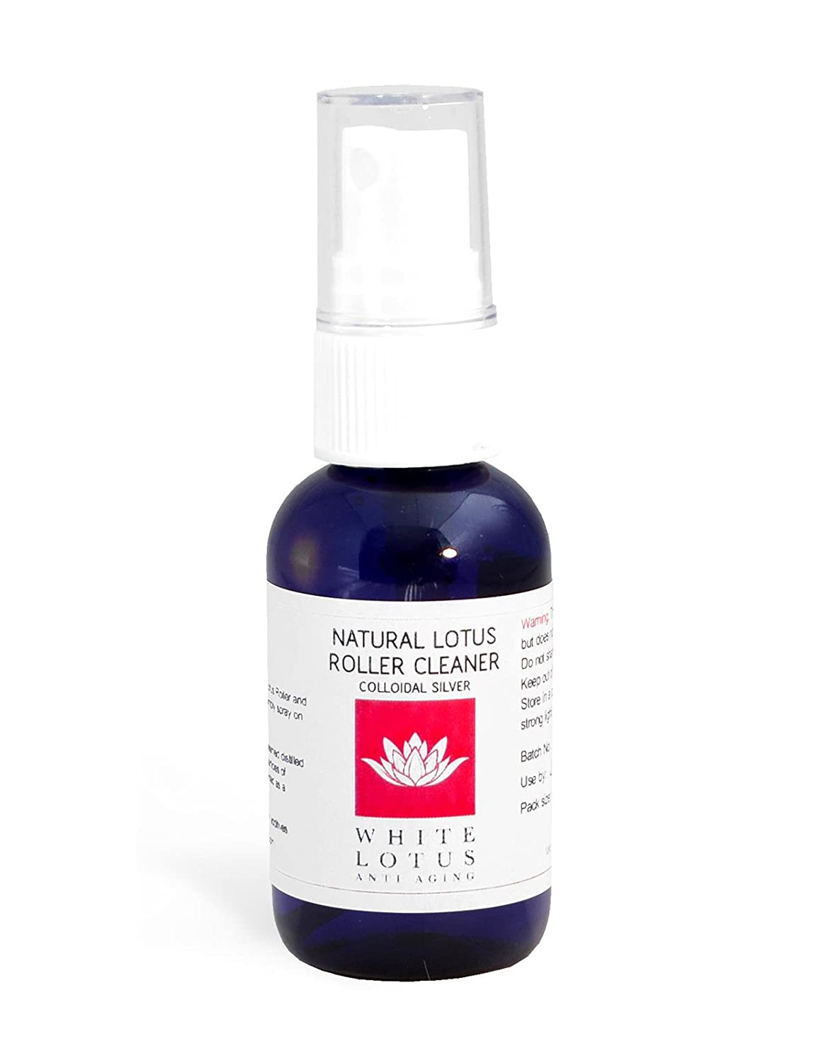 White Lotus Anti Aging Natural Derma Roller Cleaner 50ML- The Natural Dermaroller Cleaner Kills 99.99% of Bacteria, Antibacterial, Antifungal, Anti viral Pump Spray To Disinfect Skin Needling Products