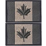 OSdream Bundle 2 pieces - Canada Flag or Quebec Flag Embroidered Patch Embroidered Badge appliques (Color 4)