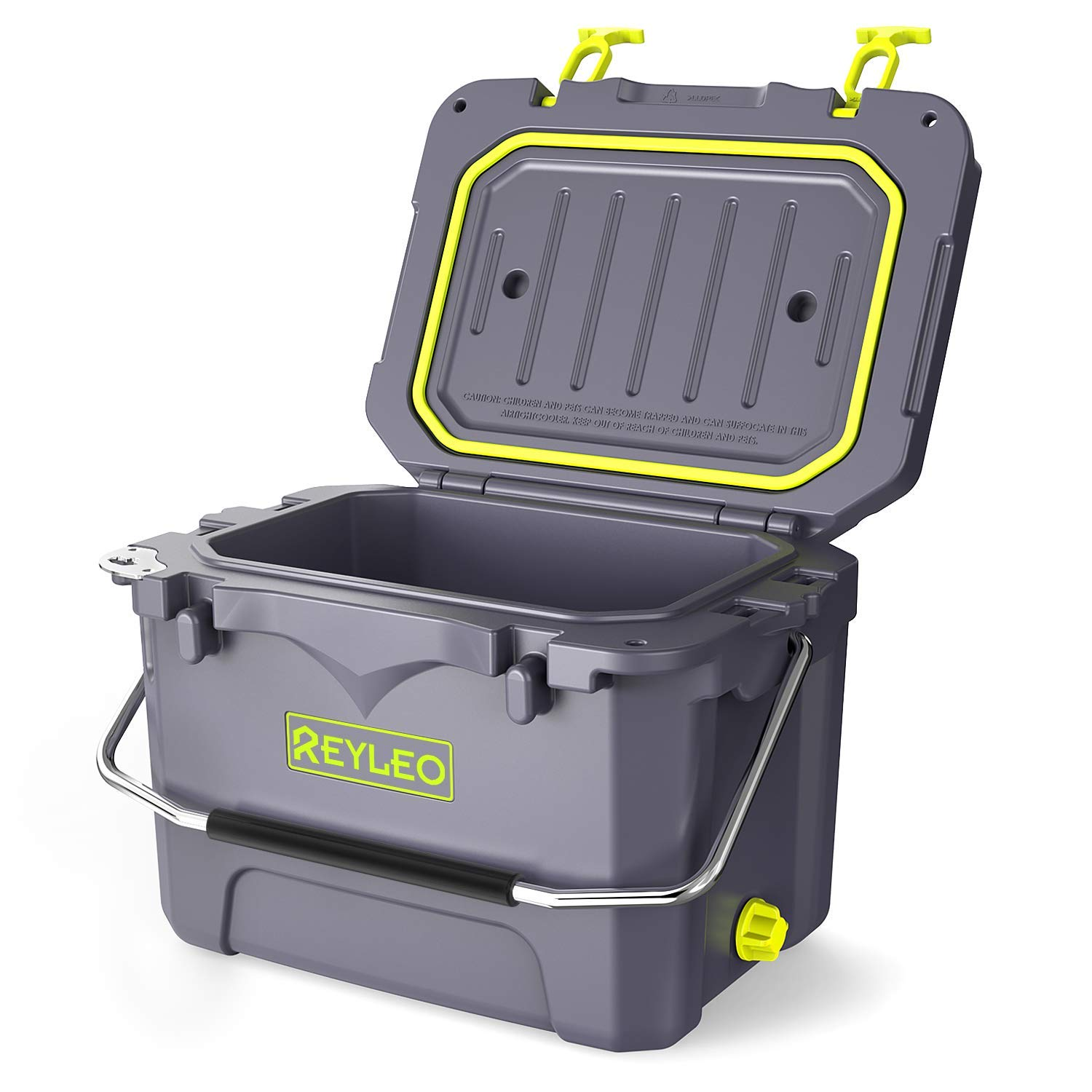 REYLEO Cooler, 21 Quart 20L Pro Guide Series Cooler, 30-Can Capacity, Up to 3-Day Ice Retention, Heavy Duty Ice Chest Built-in Bottle Opener for Camping, Fishing,Picnic and Extreme Adventure