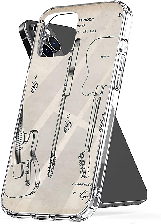 Phone Case Fender Guitar Patent - Fender Electric Guitar Art - Antique Compatible with iPhone 6 6s 7 8 X XS XR 11 Pro Max SE 2020 Samsung Galaxy ...