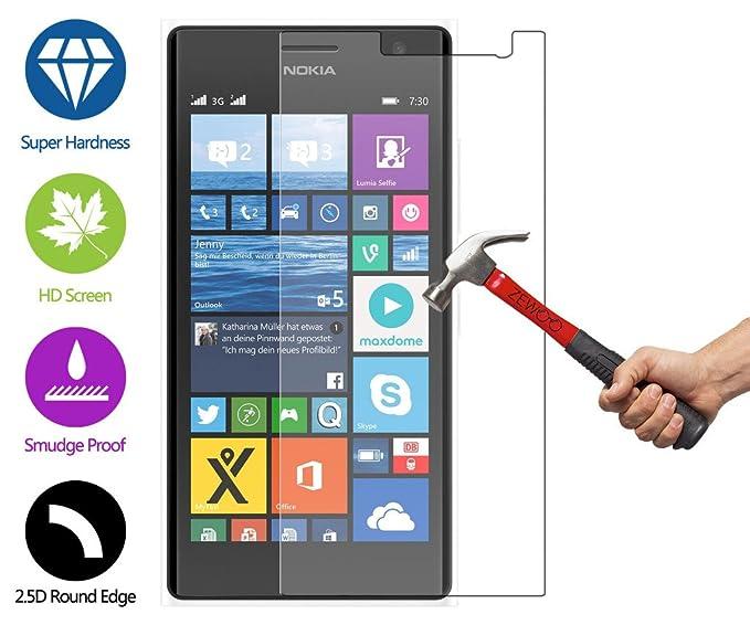 c7fa6b235eb Para Nokia Lumia 730 / Lumia 735 Protector de Pantalla ZeWoo® Cristal  Vidrio Templado Premium