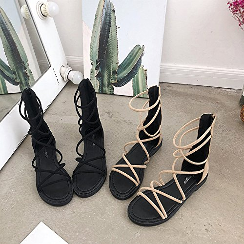 nbsp;sandals sandals shoes foot nbsp;shoes nbsp; fashion nbsp; students nbsp; ITTXTTI beige set simple sandals nbsp; wild Ms nbsp;strap nbsp; nbsp; 38 Roman summer wEfFqY