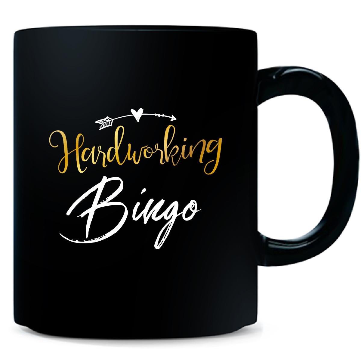 Hardworking Bingo Name Mothers Day Present Grandma - Mug by My Family Tee