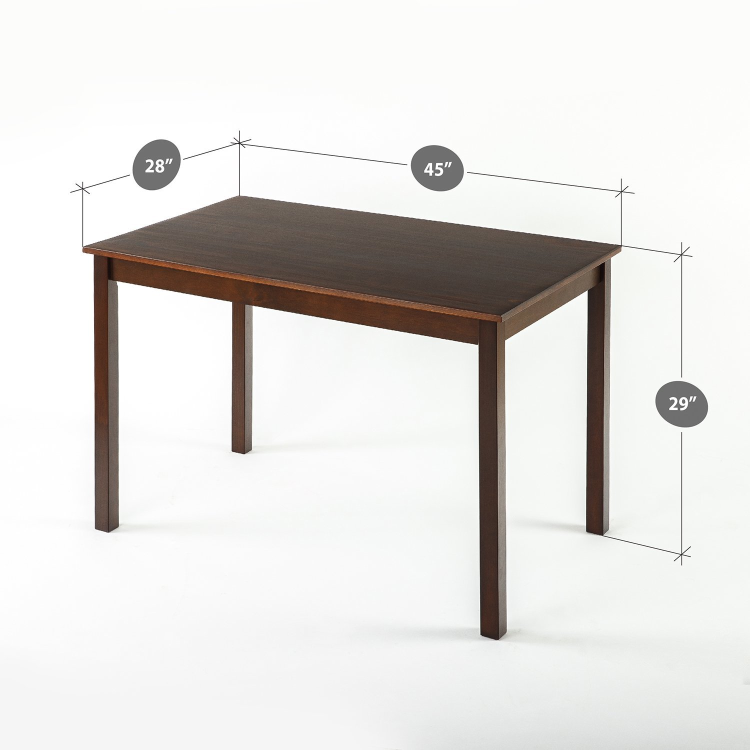 Amazon.com - Zinus Espresso Wood Dining Table/Table Only - Tables