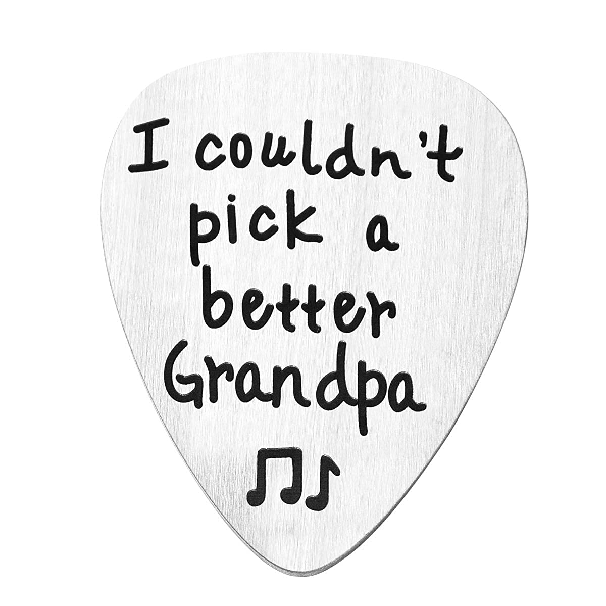 JZSTA Guitar Pick Gifts for Grandpa I Couldnt Pick a Better Grandpa