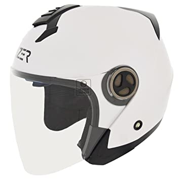 Cruizer Casco Moto Scooter Jet homologado ECE 22 – 05, color blanco, talla XS
